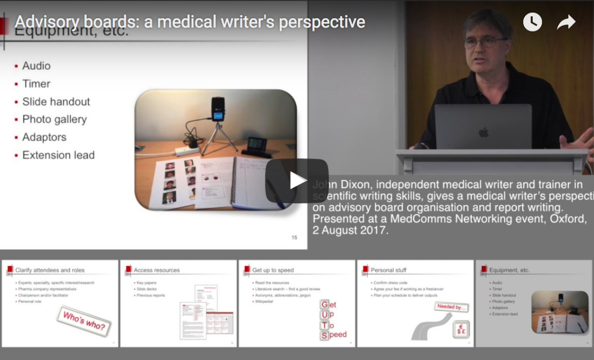 Advisory boards: a medical writer's perspective