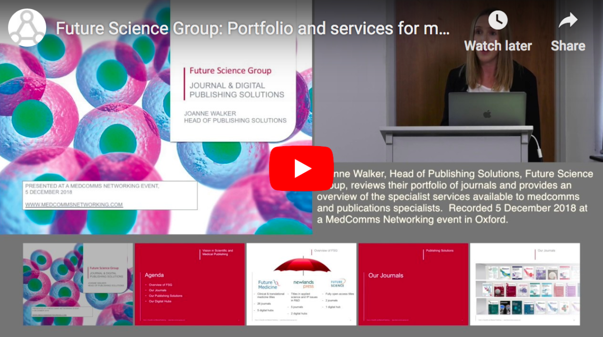 Future Science Group: Portfolio and services for medcomms