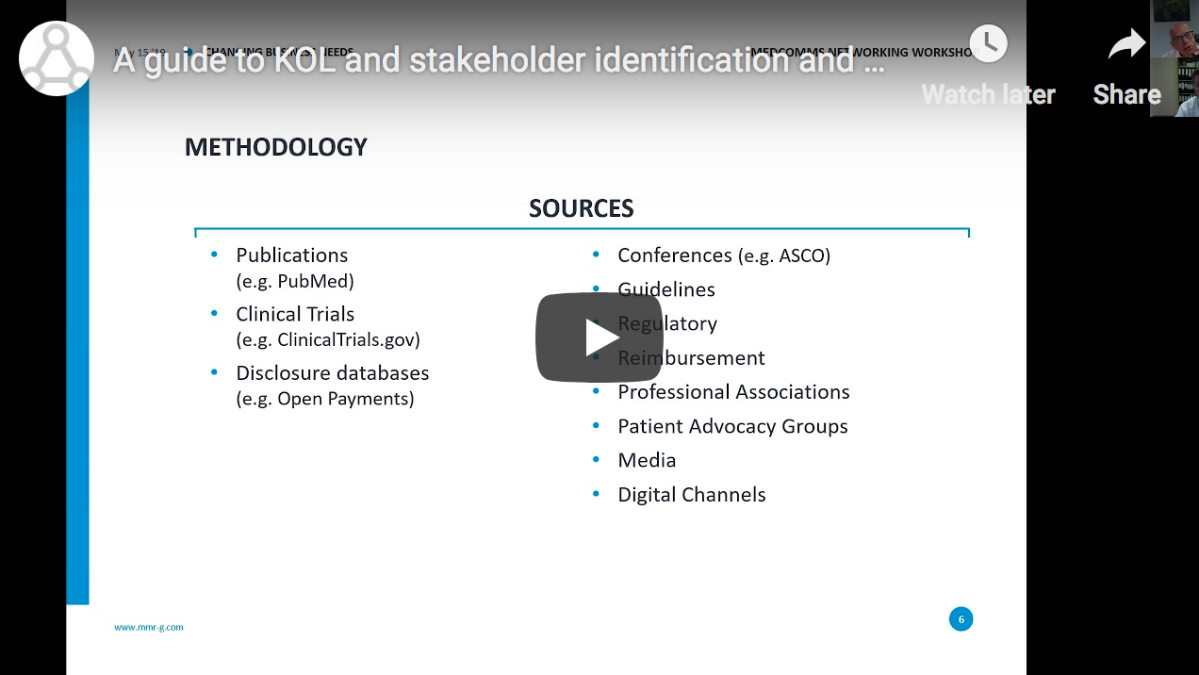 A guide to KOL and stakeholder identification and mapping
